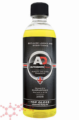Autobrite Direct Top Gloss Instant Wax 500ml ~ Curious Shine Drying Aid Car Wash