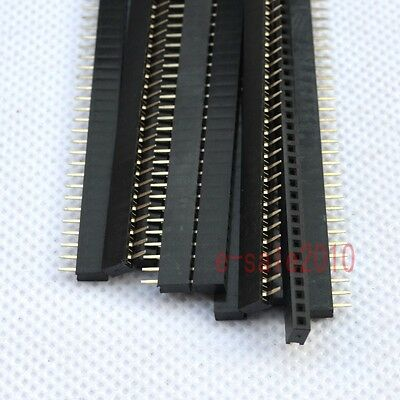10pcs RoHS 1X40 2.0mm Pin Header Single Row Female for DIP PCB Board convert G35