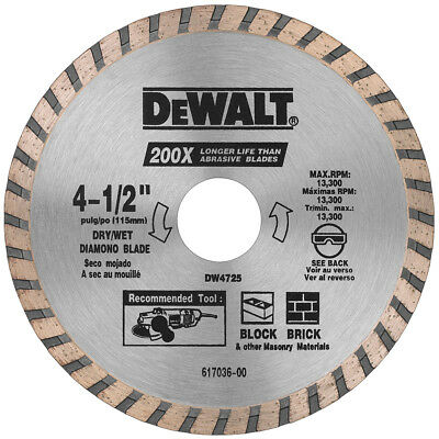 "DeWALT 4-1/2"" High Performance Diamond Masonry Blade - DW4725"