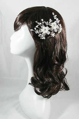 Vintage Wedding Head Piece Silver Pearl Bridal Comb Hair Accessories Kimberley