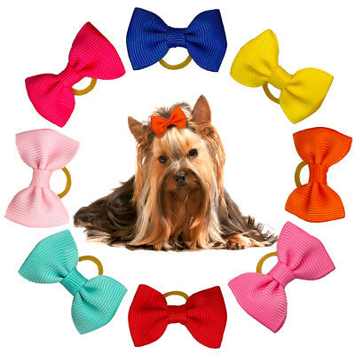 50/100pcs Puppy Small Dog Hair Bows Yorkie Grooming Accessories Free Shipping