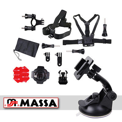 Mount System MOTORCYCLE for GoPro CAMERAS HERO 1 2 3 3+ SUCTION helmet MOTO
