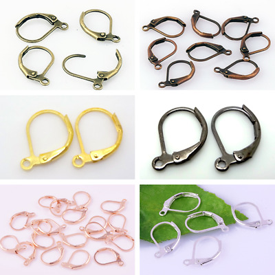 Hoop Clasps Earrings Hooks Stud Lever Back Clip Ear Wires Ear Nail Connector