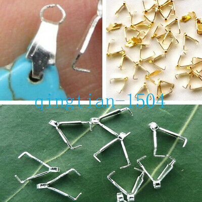 100-400 pcs link Claw clasp Pinch Bail Clip Pendants connector Jewelry Findings