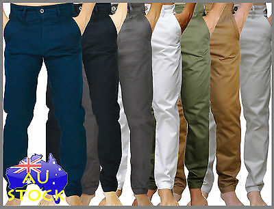 New MENS Chinos Cotton Twill Slim fit Straight Leg Pants Trousers jeans TPC01