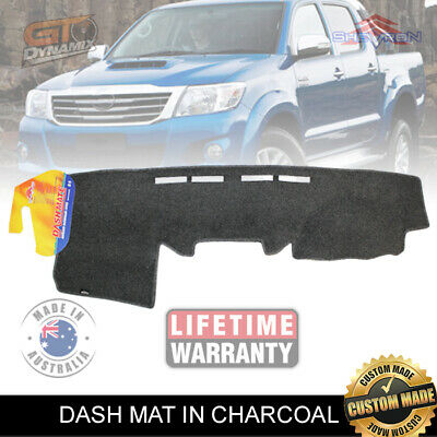 DASH MAT to Suit TOYOTA Hilux 150 Series SR5 SR KUN16 2/2005-6/2015 DM978 CHARC