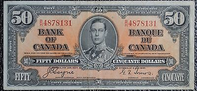BANK OF CANADA 1937 $50 NOTE-Prefix B/H-Signed Coyne & Towers - NCC