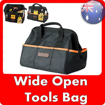 NEW Runda Heavy Duty Handyman Electrician Maintenance Wide Open Carry Tool Bag