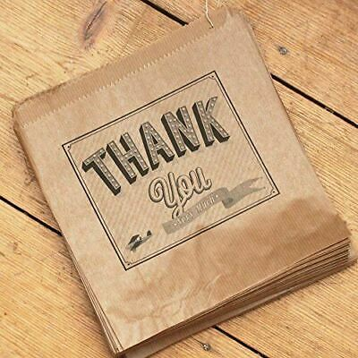 Luck And Luck Kraft Brown 'Thank you Very Much' Paper Bags x 90 - Wedding / Gift