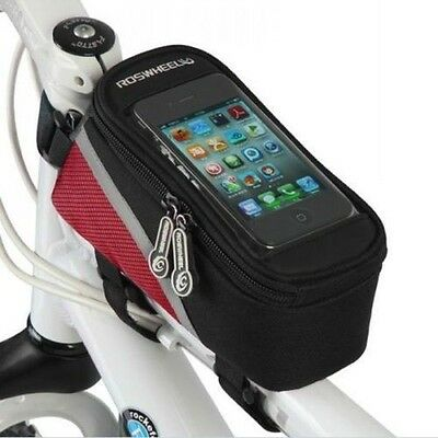 Bike Cycle Bicycle Frame Pannier Front Tube Bag Holder for Mobile iPhone Samsung