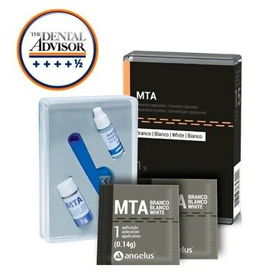 DENTAL White MTA Angelus Endodontic Cement 1g Reparative Cement