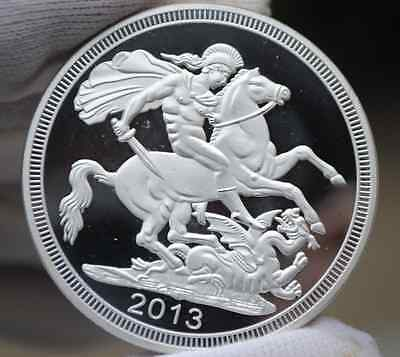 The St George and the Dragon Horse Crown SILVER PLATED Medal Coin UK British