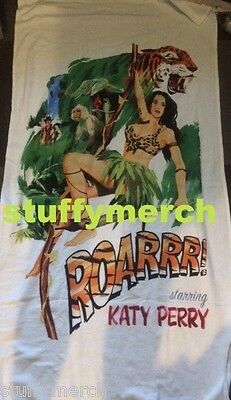 KATY PERRY RARE Prismatic Tour VIP Roar Cartoon Beach Towel - NOT SOLD AT SHOWS!