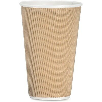 Rippled Hot Cup, 16oz., 500/CT, Brown GJO11257CT