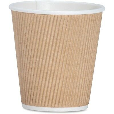 Rippled Hot Cup, 10oz., 500/CT, Brown GJO11256CT