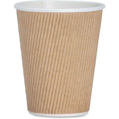 Rippled Hot Cup, 12oz., 500/CT, Brown GJO11260CT
