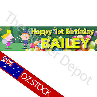 Ben and Holly Personalised Birthday Banner – Add your name and age!
