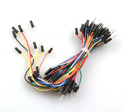 65× Flexible Solderless Male-Male Breadboard Jumper Cable Wires For Arduino kits