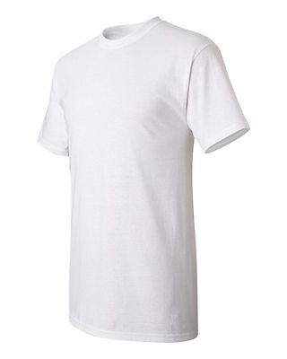 100 NEW MENS Wholesale Plain Gildan 100% Cotton White Adult T-Shirts S M L XL