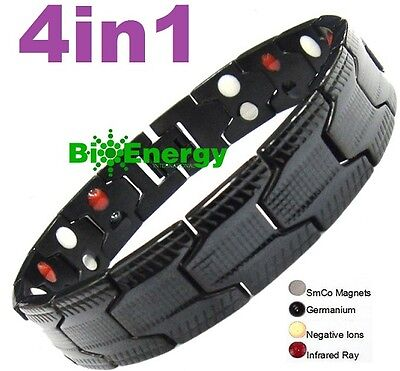 Magnetic Energy  Power Bracelet Health 4in1 Bio Armband PURE TITANIUM