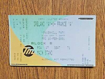 Ireland A v France A 2001 Used Rugby Ticket