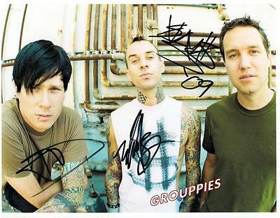 BLINK 182 signed 8x10 photo RP