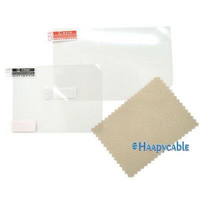 New For Nintendo 3DS XL Clear Top+Bottom LCD Screen Protector Film Cover Guard