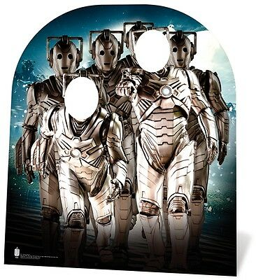 Cyberman Army Child Size Stand In Doctor Who Fun Cardboard Cutout Stand Up