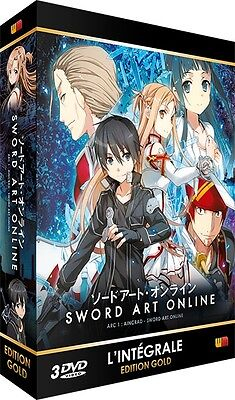 ★ Sword Art Online ★ Arc 1 (SAO) - Edition Gold - Coffret 3 DVD