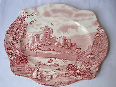 Johnson Brothers Red Castle Story Serving Platter