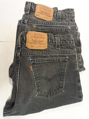 Lot Of Two Vintage 80s Men's Levi Strauss & Co USA Made 550 Jean Shorts-Sz 33x10