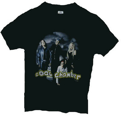 COAL CHAMBER-alternative metal gothic Merchandising band t-shirt,size L