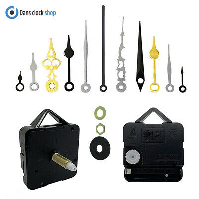 Replacement Extra Long Quartz Clock Movement Mechanism Motor & Metal Hands - DIY