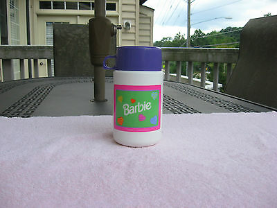 1998 Mattel Barbie Plastic Thermos Bottle!