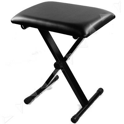 Folding Stool Piano Keyboard Seat Bench Chair Stand Chair 3 Way Adjustable