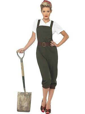 FANCY DRESS LADIES WW2 WARTIME 1940s LAND GIRL FORTIES LANDGIRL