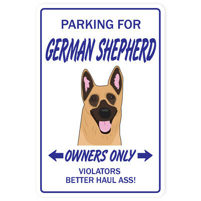 GERMAN SHEPHERD Novelty Sign dog pet parking lover security guard breeder vet