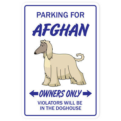 AFGHAN HOUND Novelty Sign dog pet parking signs gift dogs groomer puppy pup