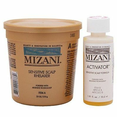 Mizani Sensitive Scalp Relaxer & Activator For Hair  (1 Application)