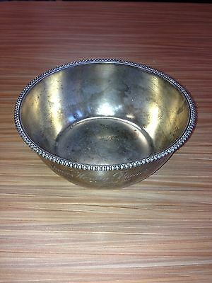 Sterling Silver Bowl, 135.1 Grams, Wood&Hughes 1890's