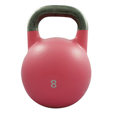 8Kg Competition Steel Kettlebell Pro Grade Kettle Bell Gym Crossfit Strength Fit