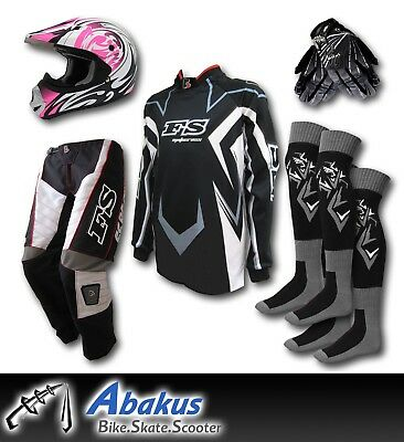 YOUTH MOTOCROSS JERSEY+PANTS+GLOVES+HELMET*AS1698* MX/Dirt Bike Gear/Junior/Kids