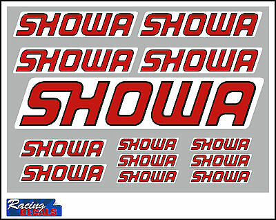 Showa decal set with clear background 13 quality printed and laminated stickers