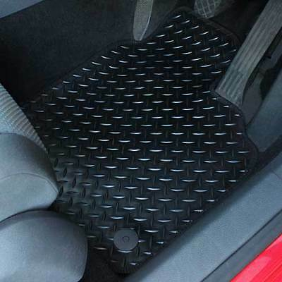 For Toyota GT86 2012+ Fully Tailored 4 Piece Rubber Car Mat Set with 4 Oval Clip