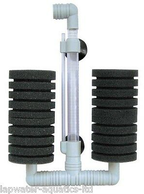 Double Super Biochemical Sponge Filter Fish Tank Air Driven Filter XY-002