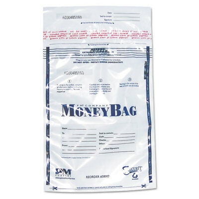 "Disposable Money Bag, Plastic, 9""x12"", 100/PK, Clear PMC58002"