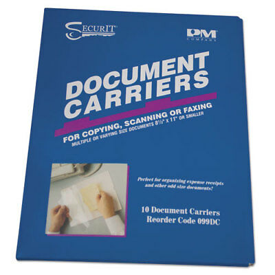 "Fax Document Carrier, Reusable, 8-1/2""x11"", 10/PK, Clear PMC099DC"