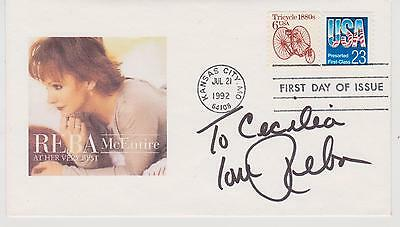 SIGNED REBA McENTIRE FDC AUTOGRAPHED FIRST DAY COVER CACHET AT HER BEST