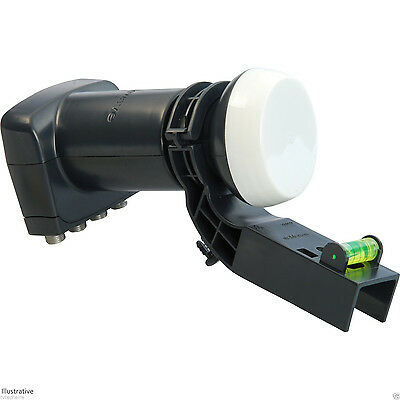 New Sky Quad LNB with Adapter, Freesat, Snap On, for Sky Dish and Free TV