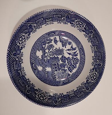 """Wood & Sons Woods Ware BLUE WILLOW Cereal Bowl 6 1/2"""" England"""